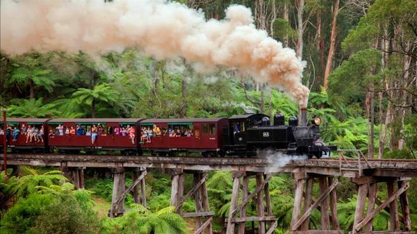 tour du lịch úc xe lửa hơi nước